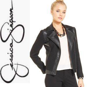 Jessica Simpson Black Faux Leather Jacket